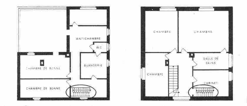 plan maison etage escalier